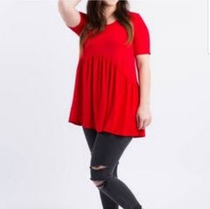 Red Muse Tunic by Agnes & Dora modal